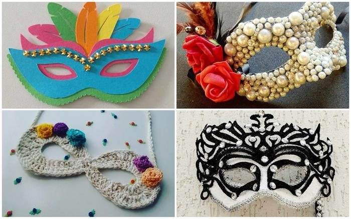 conjuntos de máscaras de carnaval