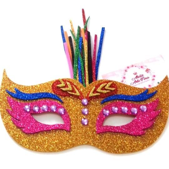 mascara de eva glitter
