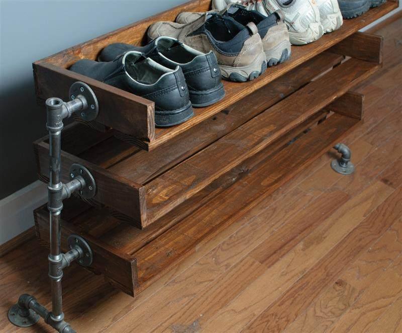 porta sapatos com canos