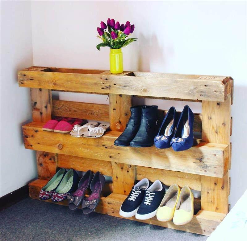 porta sapatos de pallet