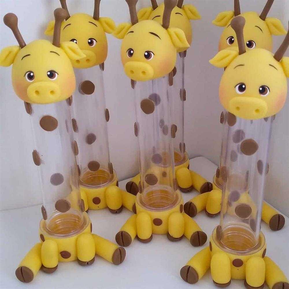 tubete decorada girafinha