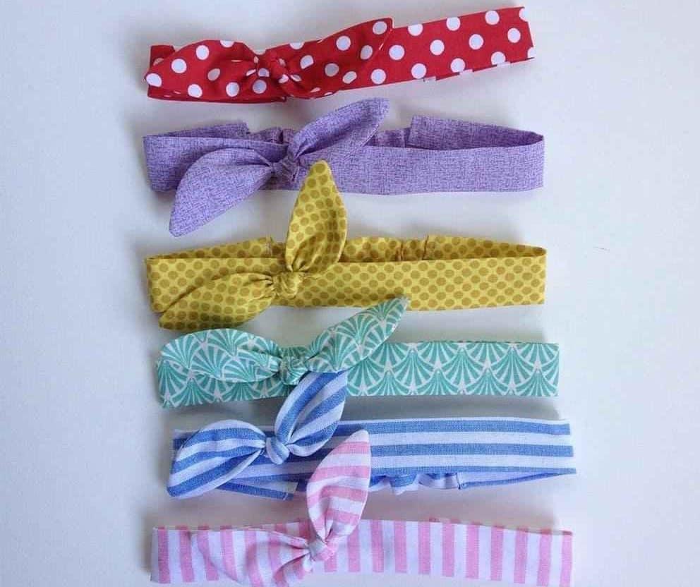 tiara de tecido com elastico