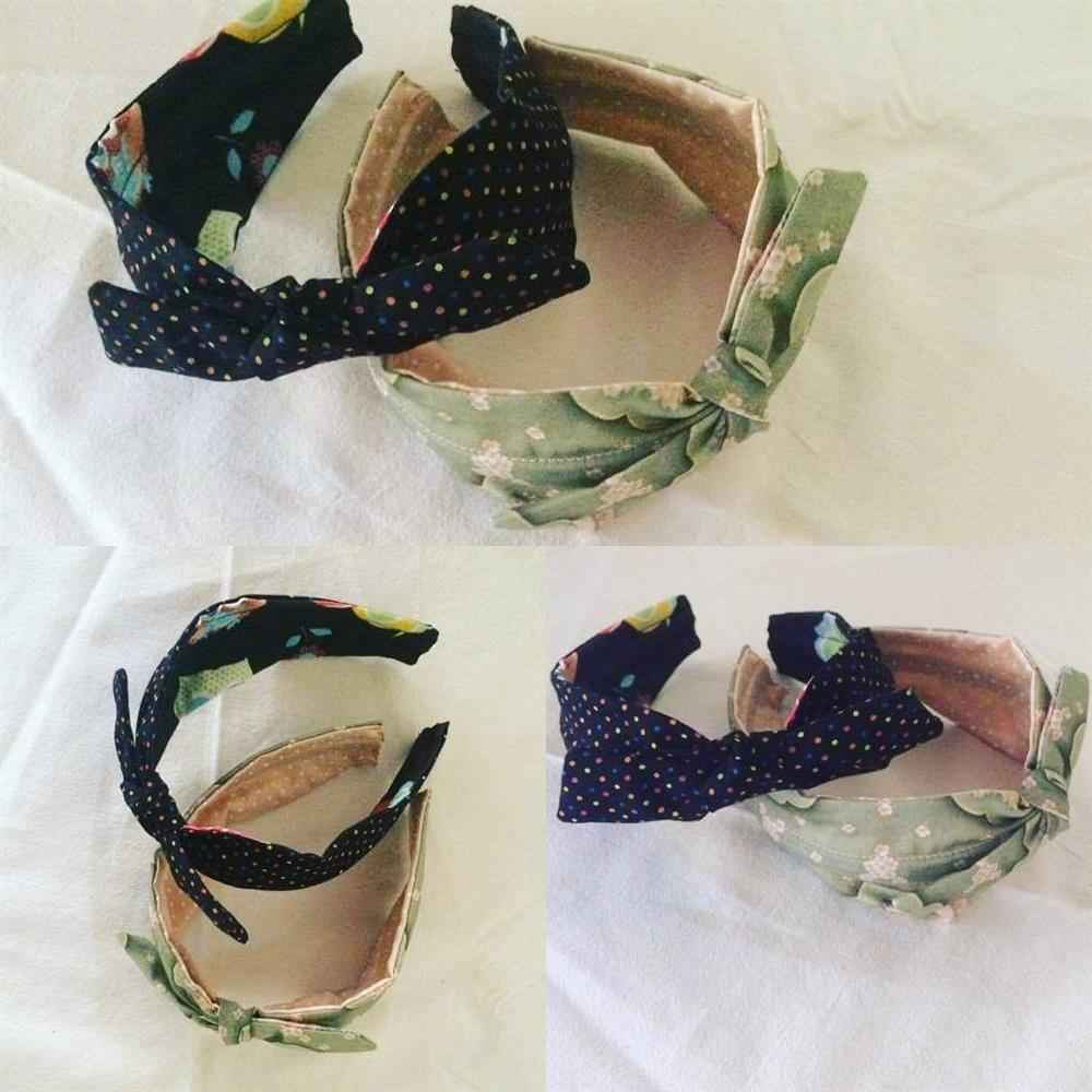 tiara de pano lacinho