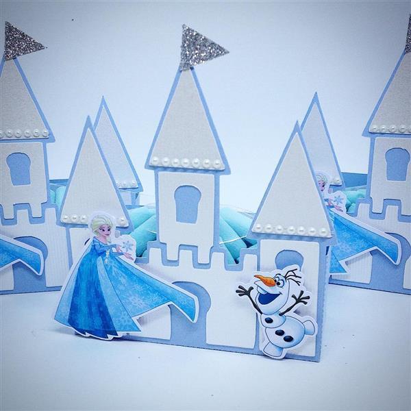 castelo de papel da frozen