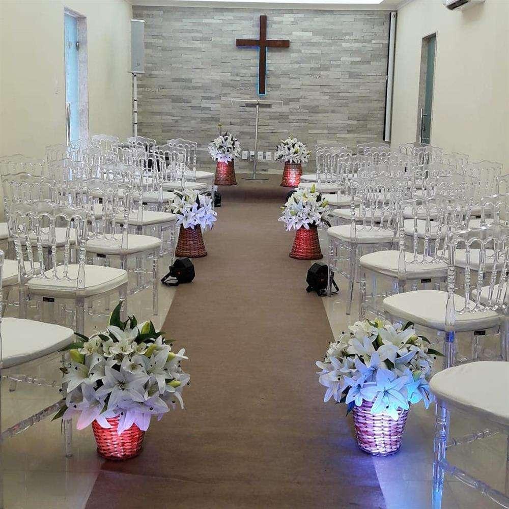 decoração igreja de casamento