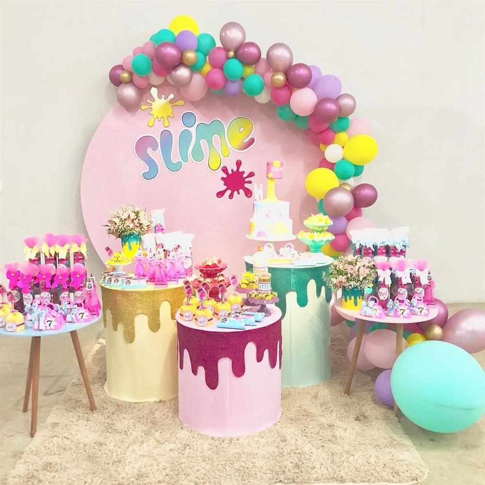 festa slime para menina