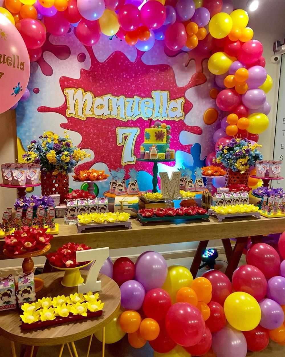 festa colorida slime