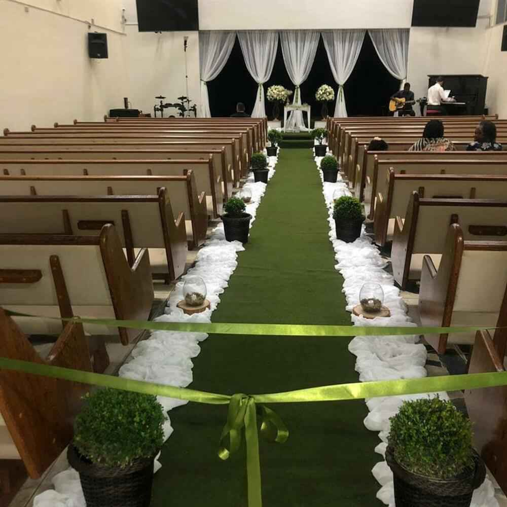 decoração simples e verde
