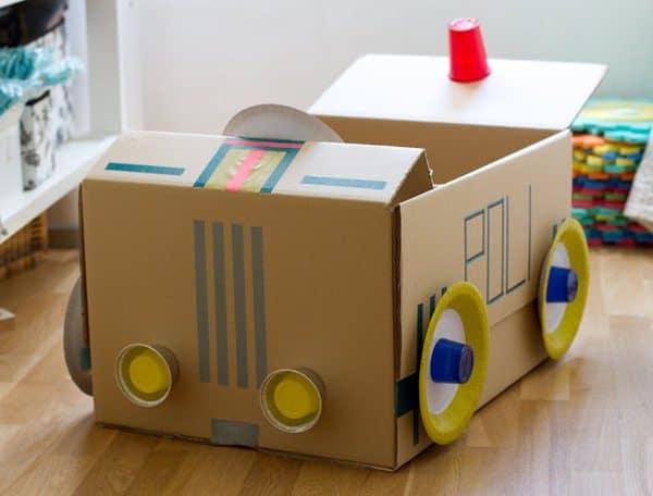 artesanato com caixa de papelão