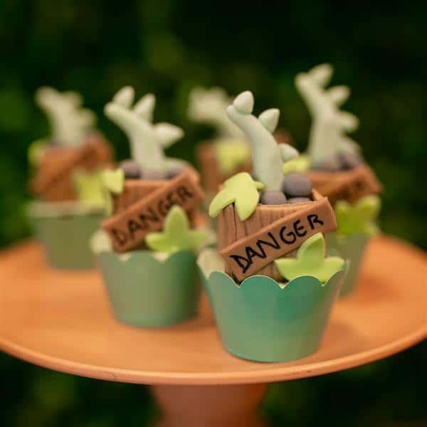 cupcake dinossauro