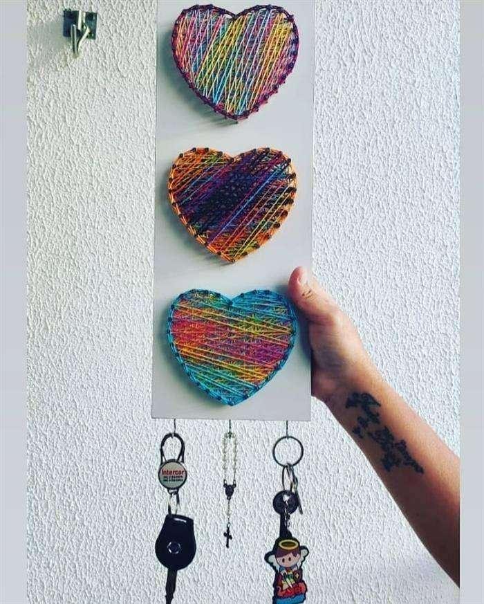 artesanato com linha