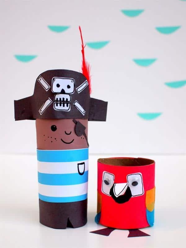 piratinha de rolo de papel