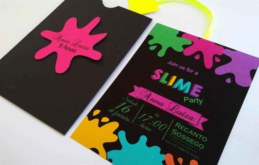 Convite slime preto