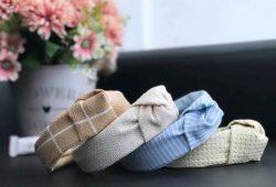 tiara de tecido com nó