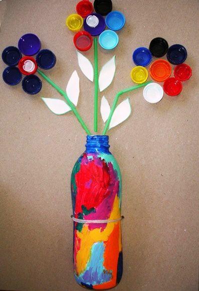 garrafa colorida