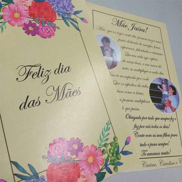 cartão personalizado dia das mães