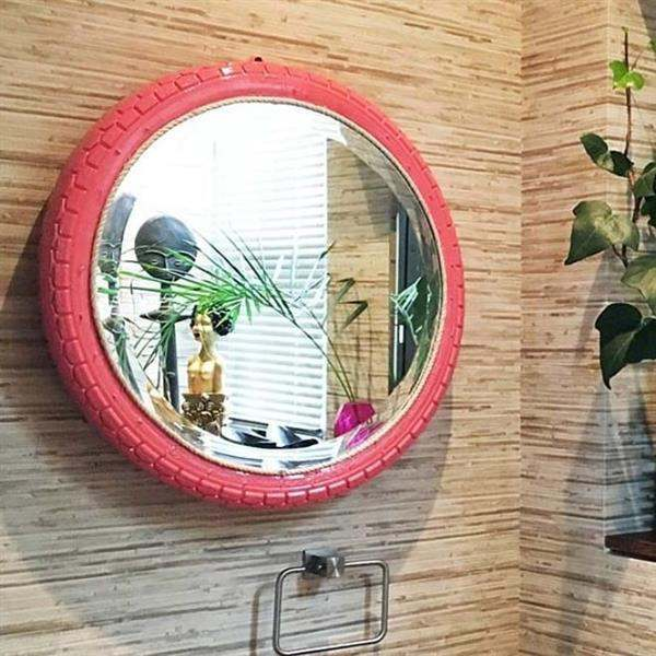 espelho com pneu