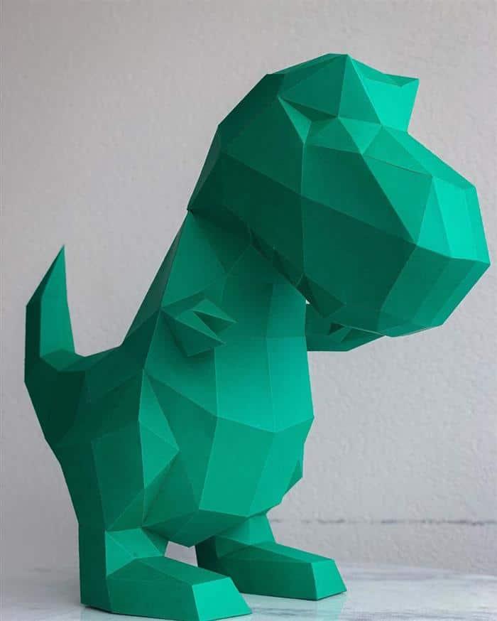 dinossauro papel