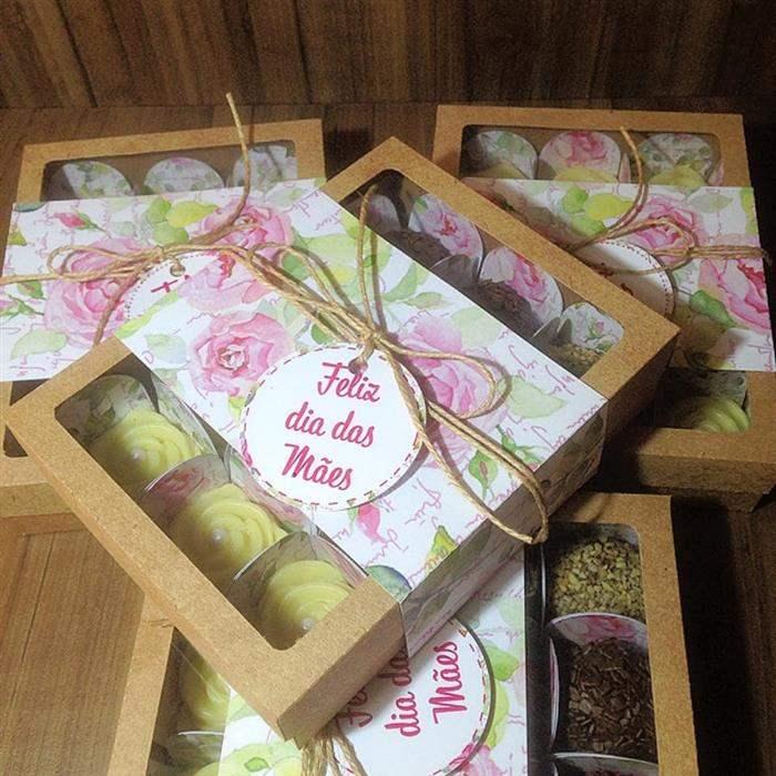 caixinhas de doces de dia das Mães