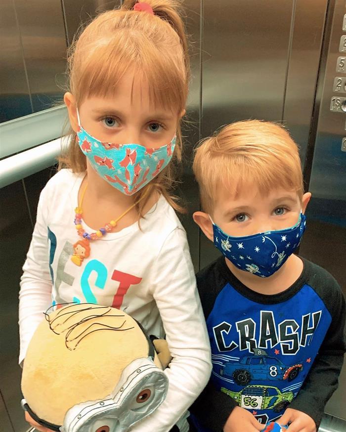mascara de proteção em crianças