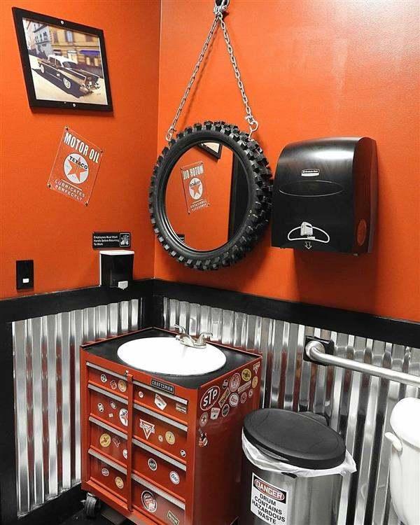 artesanato com pneu para banheiro