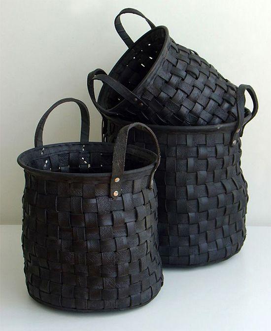 cesta feita com pneu