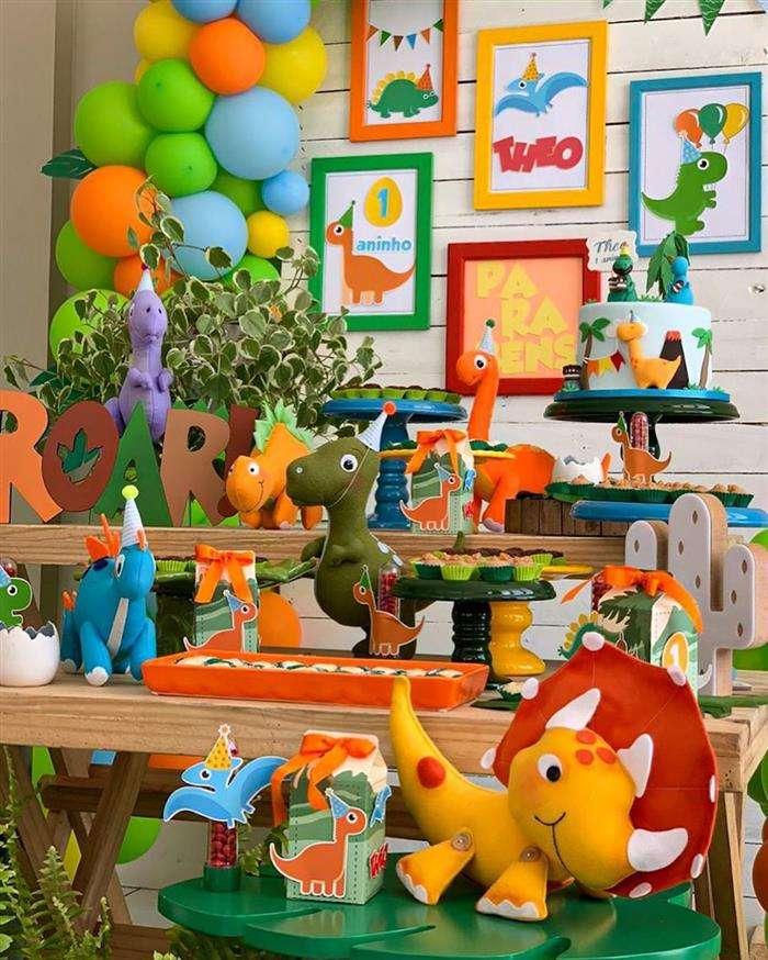 decoração de dinossauro
