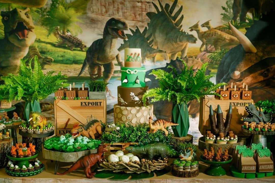 decoração festa dinossauro