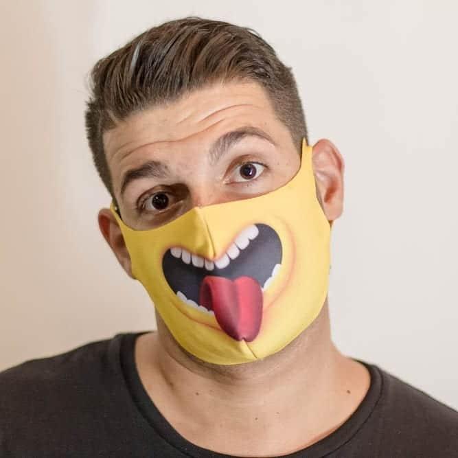 mascara de neoprene divertida