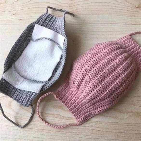 mascara de proteção de croche
