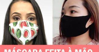 mascara de tecido feita sem maquina de costura