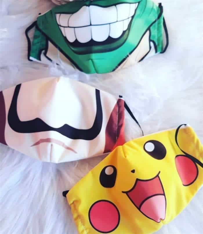 mascara infantil personalizada