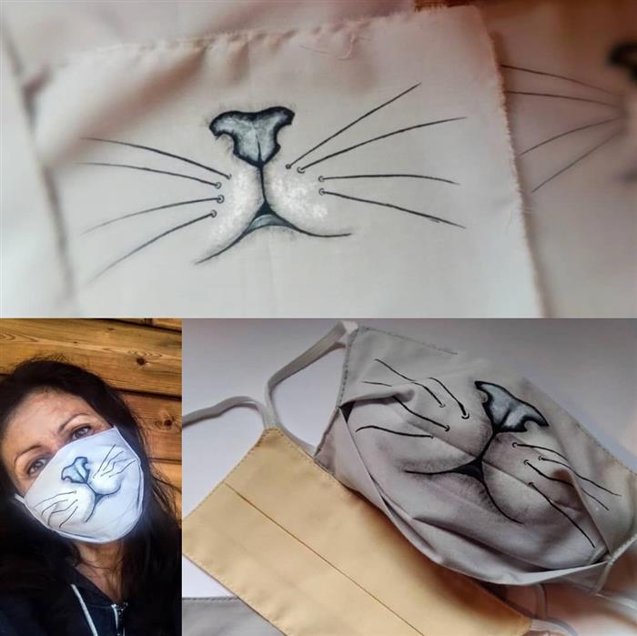 mascara pintada a mao