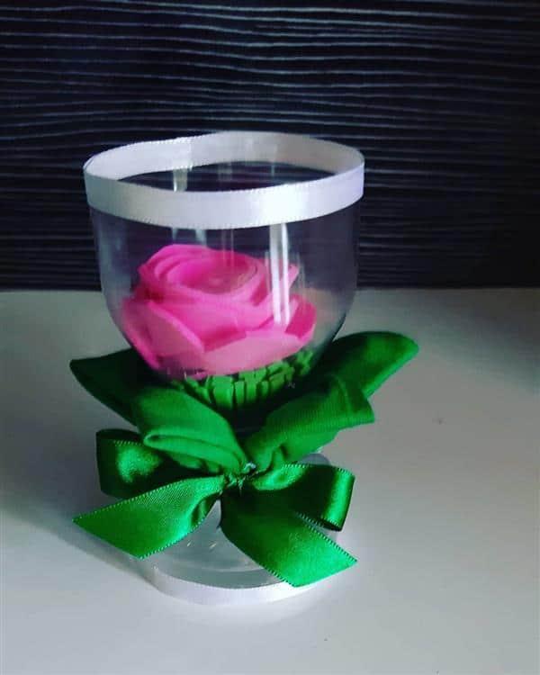 vaso com flor em pet