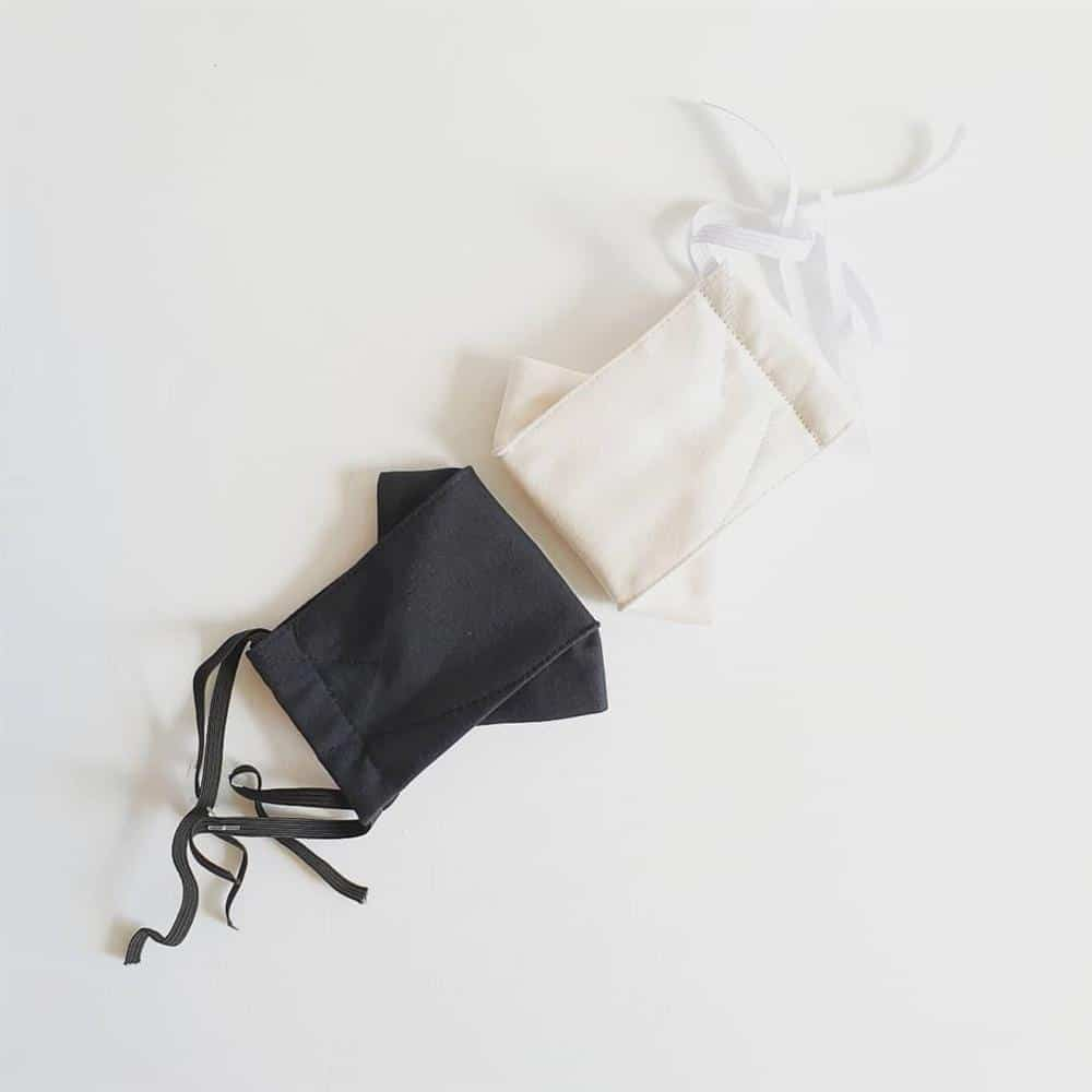 máscara 3d de tecido com elastico