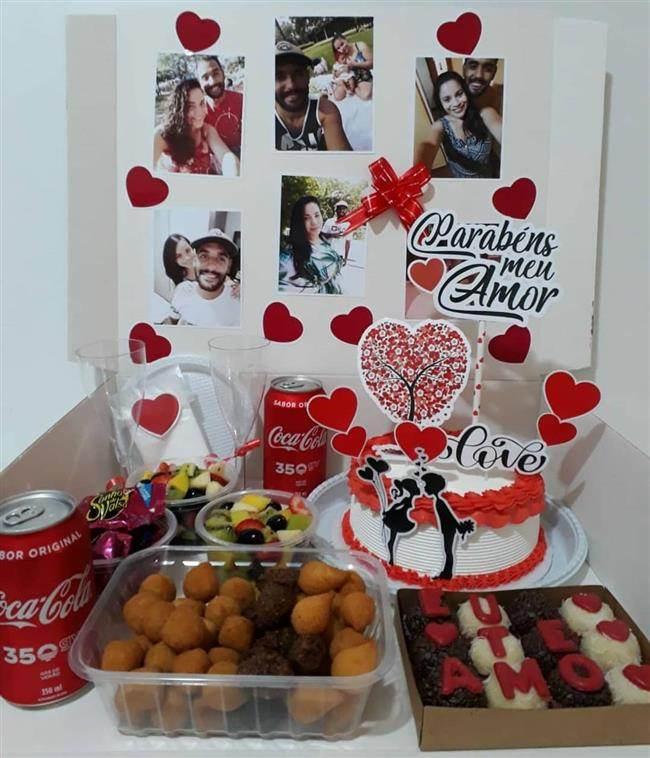caixa decorada para dia dos namorados
