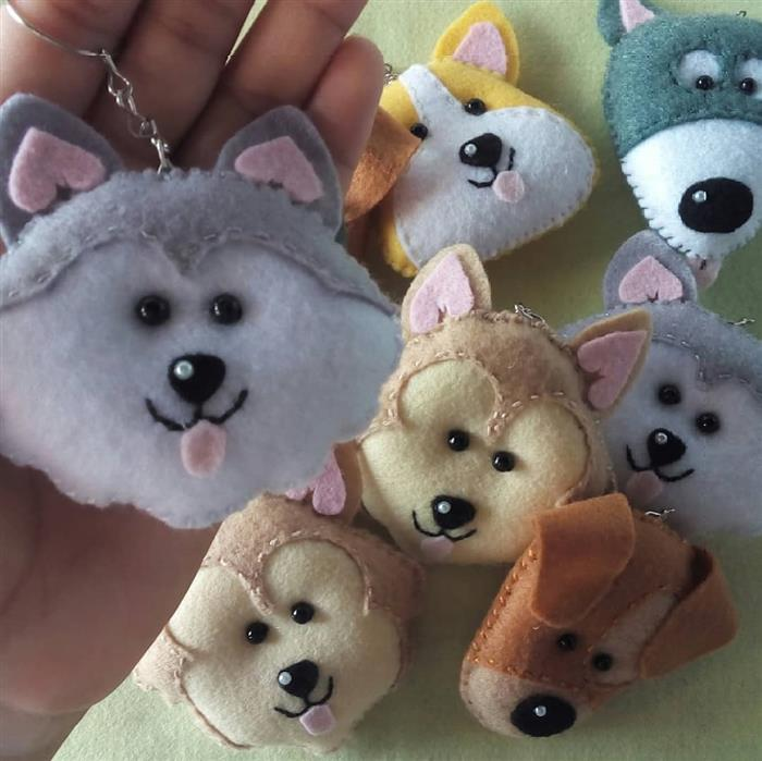 chaveiro de cachorrinhos