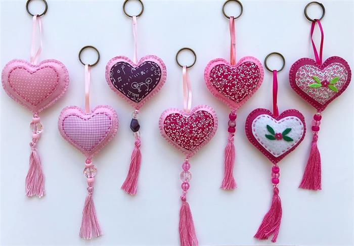chaveiro de coração