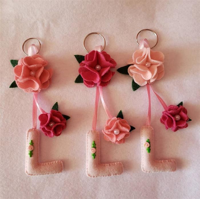 chaveiro de flores