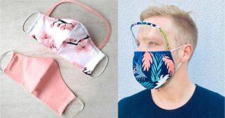 mascara de proteção com visor nos olhos