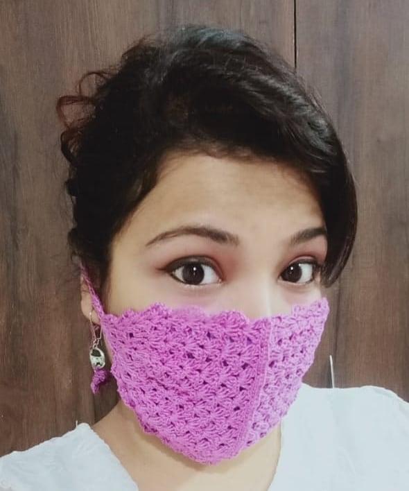 mascara de croche