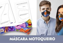 molde para mascara de motoqueiro de tecido