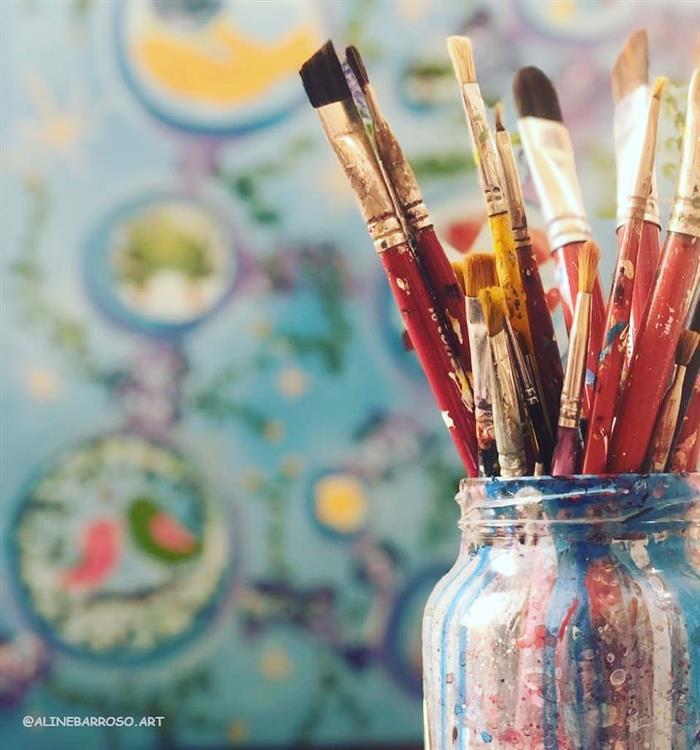 pinceis de pintura