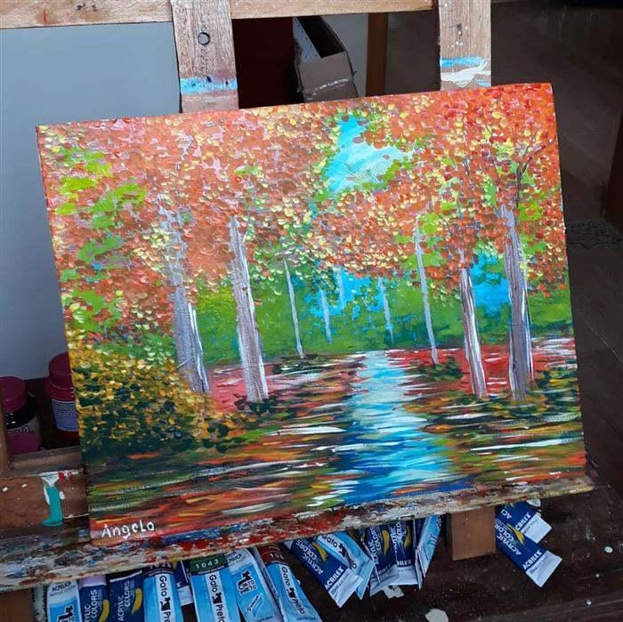 pintura com tinta oleo