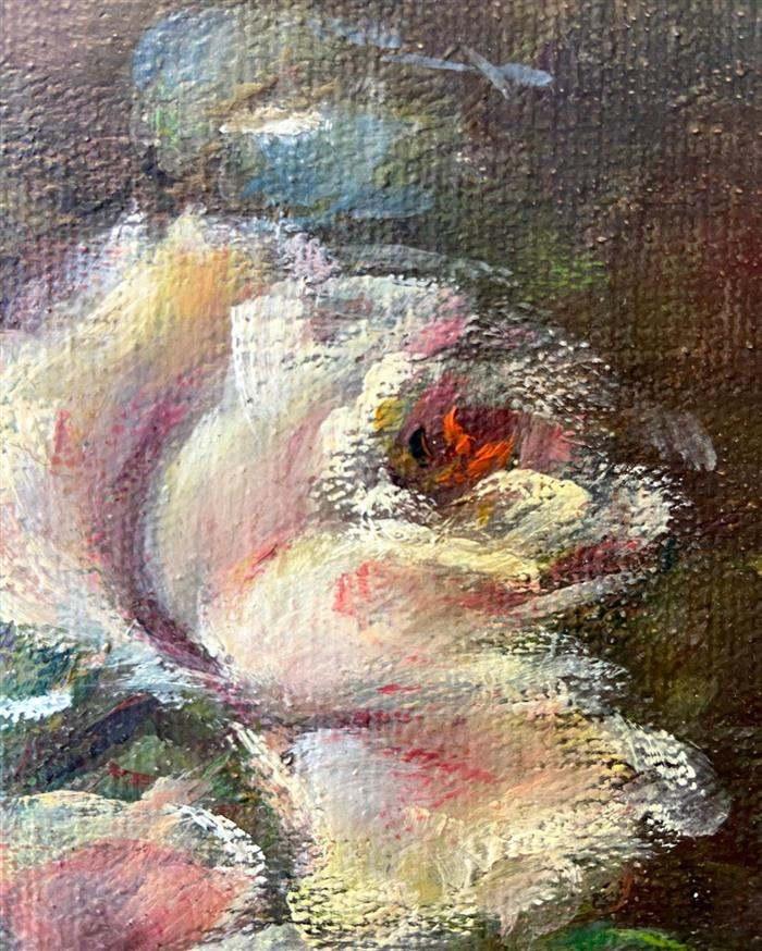 pintura de flores em tela