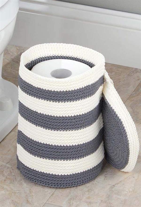 porta papel higienico croche