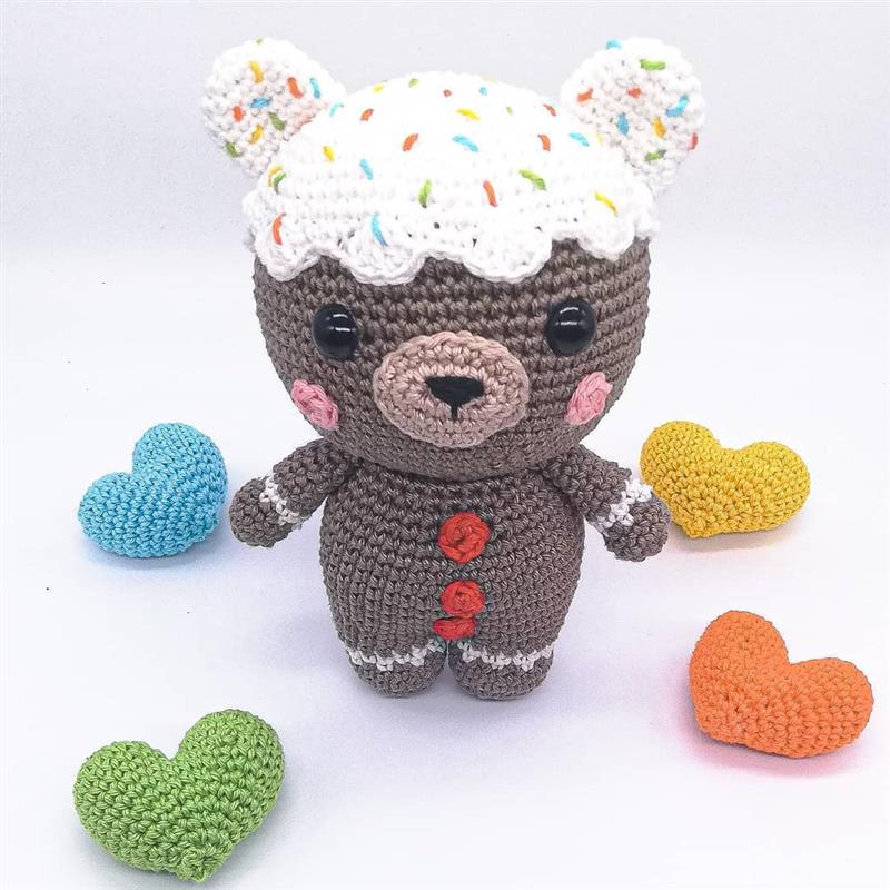 boneco biscoito de croche