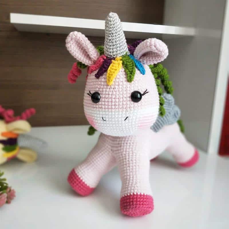 mini unicornio rosa