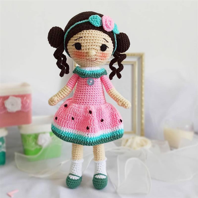 roupinha de boneca com estampa de melancia