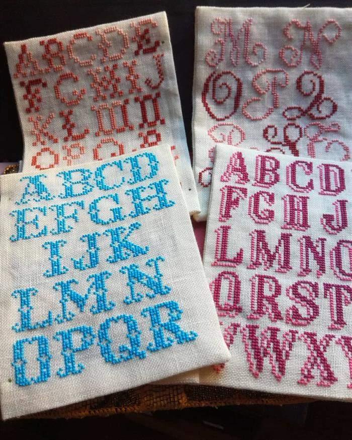 alfabeto bordado